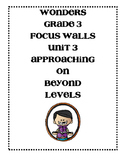 WONDERS Grade 3 Unit 3 Focus Walls Bundle