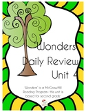 WONDERS Unit 4 Daily Review- for Second Grade