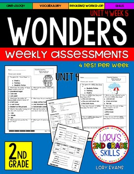 WONDERS Unit 4 Tests Second Grade