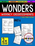 WONDERS Unit 6 Tests Second Grade