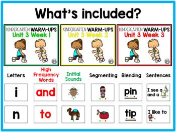 WONDERS Warm-Ups: Kindergarten Unit 3
