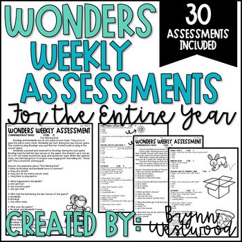 WONDERS Weekly Assessments BUNDLE (First Grade) Units 1-6