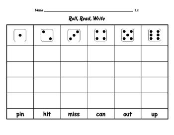 WONDERS by Mc Graw Hill - First Grade SPELLING - Roll, Read, Write