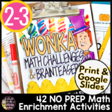 End of Year Math | Charlie and the Chocolate Factory | Candy Math Worksheets
