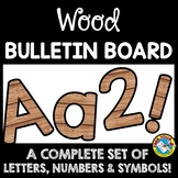 WOOD CLASSROOM DECOR BULLETIN BOARD LETTERS PRINTABLE, NUMBERS, ETC