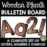 WOOD CLASSROOM DECOR BULLETIN BOARD LETTERS PRINTABLE, NUM