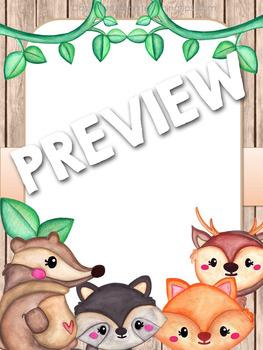 WOODLAND ANIMALS Classroom Organization Back to School Classroom Decor