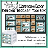 WOODLAND ANIMALS FOREST OR CAMPING CLASSROOM EDITABLE TEACHER TOOLBOX LABEL