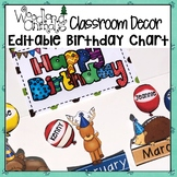 WOODLAND ANIMALS FOREST THEMED BIRTHDAY CHART BULLETIN BOA