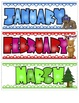 CAMPING OR WOODLAND ANIMALS FOREST THEMED CALENDAR SET