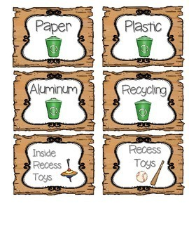 WOODLAND ANIMALS FOREST THEMED CENTER, SUPPLIES, AND NUMBER CLASSROOM LABELS