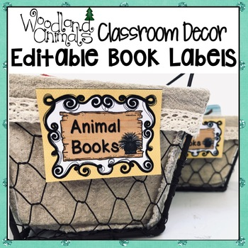 WOODLAND ANIMALS FOREST THEMED CLASSROOM LIBRARY AND BOOK