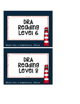 RED AND NAVY NAUTICAL THEMED CLASSROOM LIBRARY AND BOOK BIN LABELS