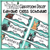 WOODLAND ANIMALS FOREST THEMED DAILY CLASSROOM SCHEDULE CARDS