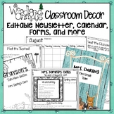 WOODLAND ANIMALS FOREST THEMED EDITABLE CALENDAR, FORMS, AND NEWSLETTER