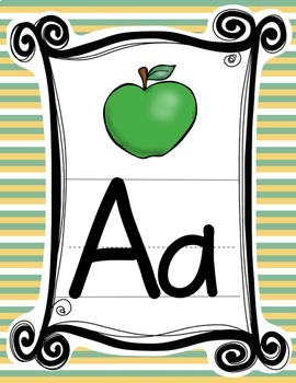 WOODLAND ANIMALS FOREST THEMED PRINT ALPHABET POSTERS