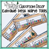 WOODLAND ANIMALS FOREST THEMED STUDENT DESK NAME TAGS
