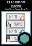 WOODLAND ANIMALS - Name Tags