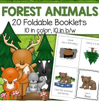 FOREST ANIMALS Foldable Booklets for Preschool, Pre-K and