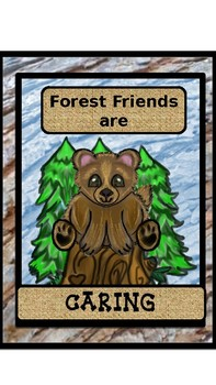 WOODLAND FOREST FRIENDS CHARACTER COUNTS