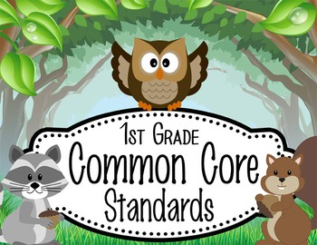 """WOODLAND animals - 1st Grade Common Core Standards """"I CAN"""""""
