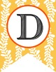 WOODLAND animals - Alphabet Flags, CREATE a BANNER, yellow