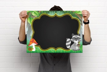 WOODLAND animals - Class Decor: editable chalkboard  POSTERS / Chalk Markers