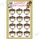 WOODLAND animals - Classroom Decor: Happy Birthday - size 24 x 36 poster
