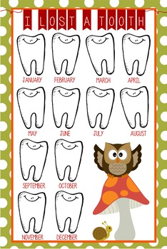 WOODLAND animals - Classroom Decor: I lost a TOOTH - size 24 x 36