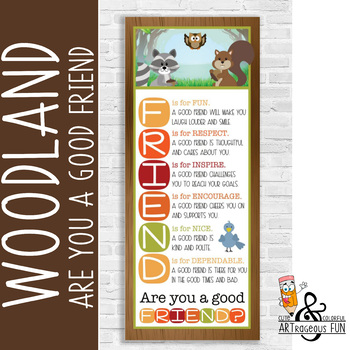WOODLAND animals - Classroom Decor: LARGE BANNER, FRIENDS