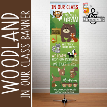 WOODLAND animals - Classroom Decor: X-LARGE BANNER, In Our