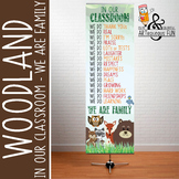 WOODLAND animals - Classroom Decor: X-LARGE BANNER, In Our Class  We are Family