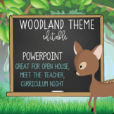 WOODLAND animals - PowerPoint, Open House, Curriculum Night, Meet the Teacher
