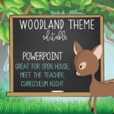 WOODLAND animals - PowerPoint, Open House, Curriculum Nigh