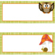 WOODLAND animals - Schedule Cards, EDITABLE