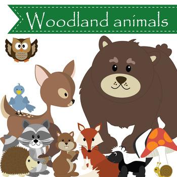 WOODLAND animals - graphics, clip art