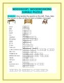 WOODSHOP/ WOODWORKING VOCABULARY JUMBLE PUZZLE