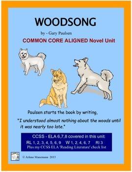 WOODSONG by Gary Paulsen - Novel Study