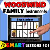 WOODWIND FAMILY INSTRUMENT BOOM CARDS™ Music Distance Lear