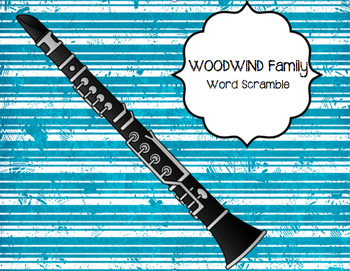 WOODWIND Instruments Word Puzzle