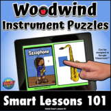 WOODWIND PUZZLE BOOM CARDS™ Music Distance Learning Google