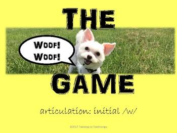 WOOF! WOOF! (initial /w/)