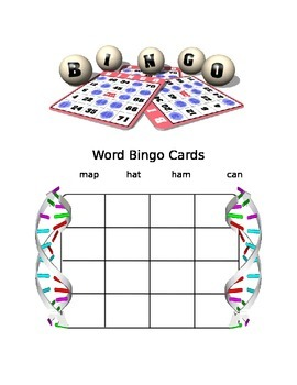 "WORD BINGO FOR ""AT"", ""AM"", ""AN"", and "" AP"" WORDS"
