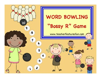 "WORD BOWLING ""Bossy R"" Game"