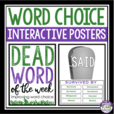 WORD CHOICE INTERACTIVE POSTERS: DEAD WORD OF THE WEEK