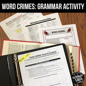 WORD CRIMES: Poster Project and Lesson for the Music Video!