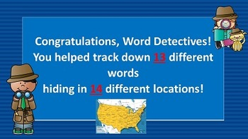 WORD DETECTIVES FIFTY STATES INVESTIGATION Part One