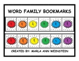 WORD FAMILY BOOKMARKS