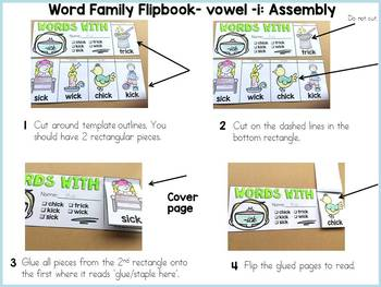 WORD FAMILY FLIPBOOKS: VOWEL -I WORDS: PHONICS