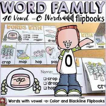 WORD FAMILY FLIPBOOKS: VOWEL -O WORDS: PHONICS